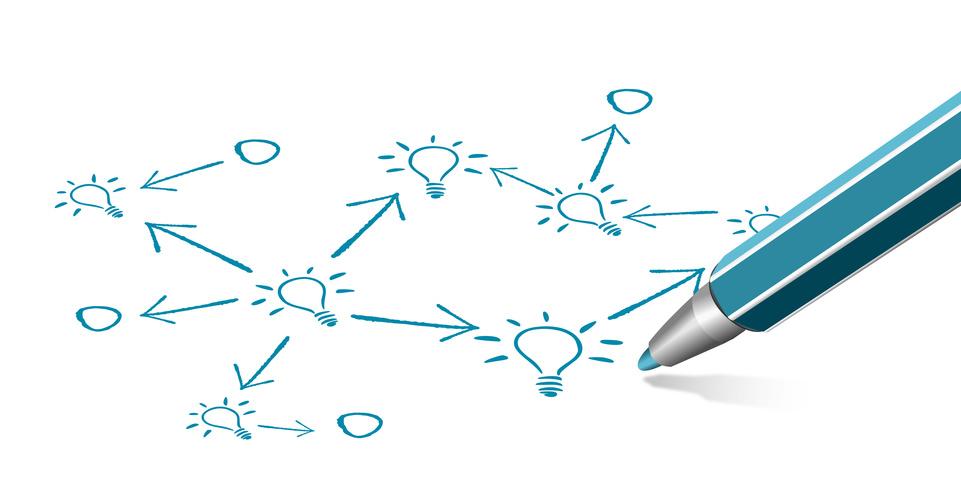 Vernetzung Glühbirne Kreativität